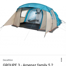 tente family arpenaz with fauteuil camping decathlon. Black Bedroom Furniture Sets. Home Design Ideas