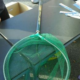 Grosse epuisette pêche verte handle 3m
