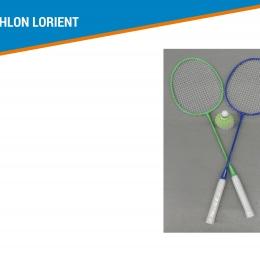 2 raquettes de badminton + 3 volants