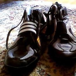 Chaussures de boxe/sambo en toile et en cuir