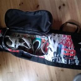 Pack snowboard et housse avec boots