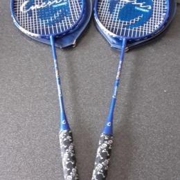 lot de 2 raquette de badminton inesis décathlon avec leur housse