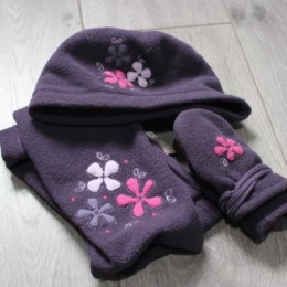 Bonnet + écharpe + moufles