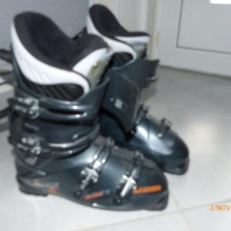 chaussure ski  vector Gris