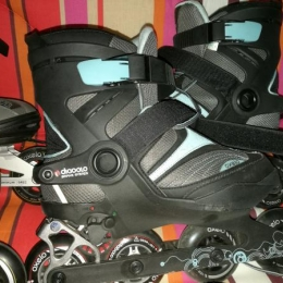Rollers femme taille 38 avec accessoires protection