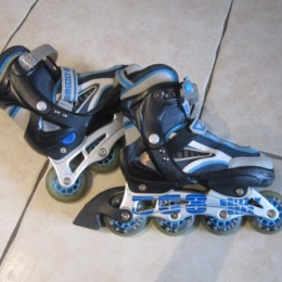 ROLLERS GRIZZLY GEAR BLEU GRIS BLANC