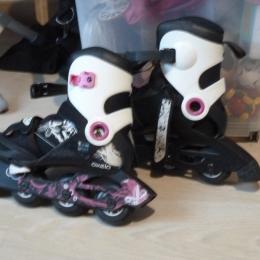 Roller PLAY 5 Girl 34/36 noir rose et blanc