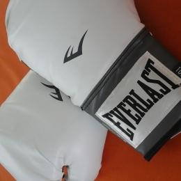 Gant boxe blanc