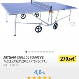 Table de tennis extérieur